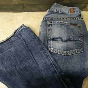 7FAM Stonewash Flare Red Label jeans sz 27